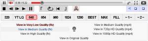Menu yang terdapat pada Youtube Enhancer