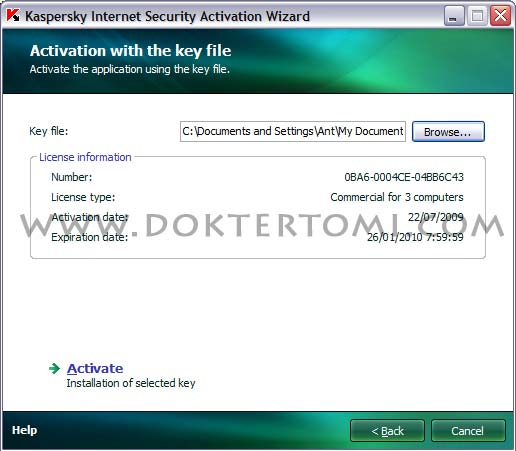 Kaspersky Activation With The Key File