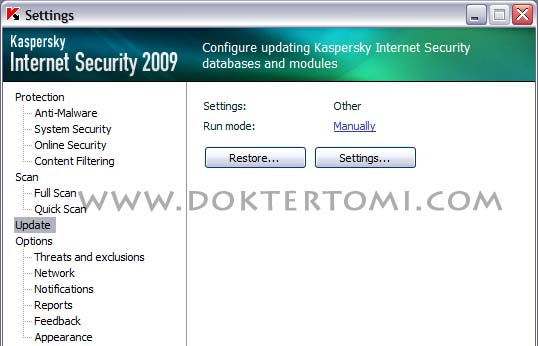 Kaspersky Configuring Updating Module