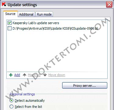 Kaspersky Update Setting