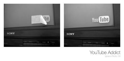 Tempelkan stiker pada layar TV